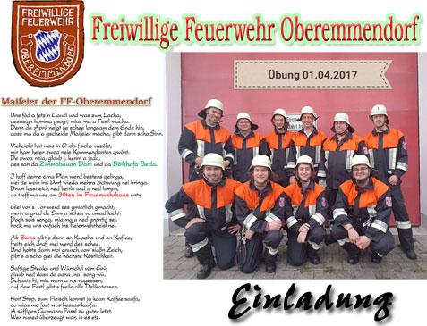 Maifeier der FF-Oberemmendorf @ vor Feuerwehrhaus Oberemmendorf